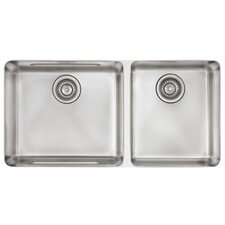 "<strong>Franke</strong> Kubus 34.63"" x 17.31"" Double Bowl Kitchen Sink"