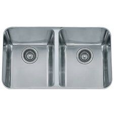 "31.38"" x 19.5"" Largo Double Bowl Kitchen Sink"