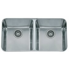 "34"" x 19.63"" Largo Double Bowl Kitchen Sink"