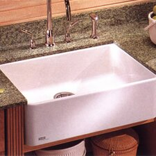 "Manor House 27.63"" x 16.38"" Fireclay Apron Front Kitchen Sink"