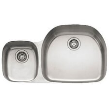 "Prestige 31.13"" x 14.19 - 20.44"" Undermount Double Bowl Kitchen Sink"