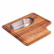 <strong>Franke</strong> Pro-Series Wood Cutting Board with Steel Colander in Teak