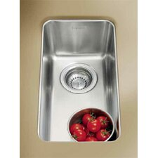 "Kubus 17.31"" x 9.44"" Single Bowl Kitchen Sink"