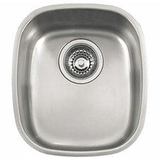 "14.19"" x 12.56"" Compact Single Bowl Kitchen Sink"