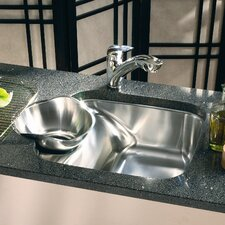 "23.44"" x 18.13"" Beach Double Bowl Kitchen Sink"
