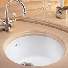 "18.38"" x 17.75"" Luna Fireclay Undermount Kitchen Sink"