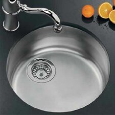 "17.13"" x 17.13"" Rotondo Top Mount Kitchen Sink"