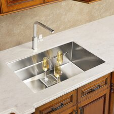 "Peak 19.75"" x 17.75"" Single Bowl Kitchen Sink"