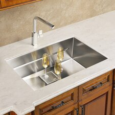 "Peak 17.75"" x 16.88"" Single Bowl Kitchen Sink"