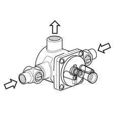 3 Port Pressure Balance Valve