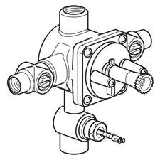 4 Port Pressure Balance Valve