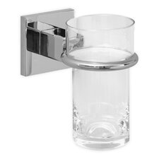 HansaQuadris Tumbler Holder with Glass in Chrome
