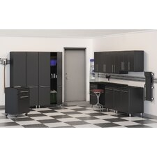 Garage 7' H x 25' W x 2' D 11 Piece Cabinet Set