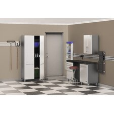 Storage 5-Piece 9' Storage System w/Workstation in Starfire Pearl