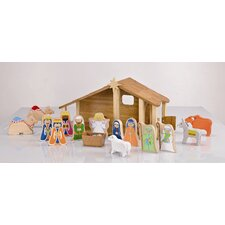EverEarth Bamboo Nativity Set with Figures & Animals