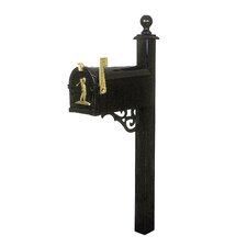 Brentwood Mailbox Post with Victorian Bracket