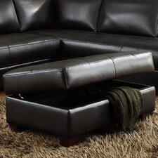 <strong>Lazzaro Leather</strong> Storage Ottoman