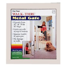 <strong>Four Paws</strong> Metal Walk Thru Pet Gate