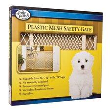 "26-42"" Plastic Mesh Wood Frame Gate"
