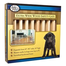 "53-96"" Vertical Wood Slat Gate"