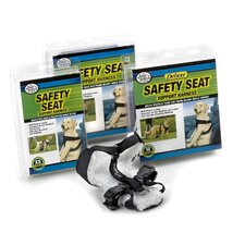 Safety Seat Support Dog Harness in Black