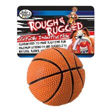 "<strong>Four Paws</strong> 2.75"" Rough and Rugged Basketball With Bell Dog Toy"