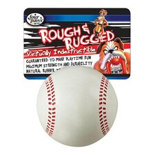 "2.75"" Rough and Rugged Baseball with Bell Dog Toy"