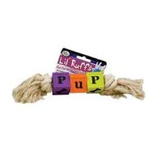 Lil Ruffs Puppy Blocks and Rope Dog Toy