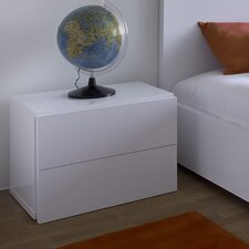 Aurora 2 Drawer Bedside Table