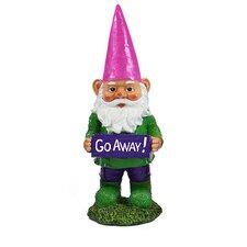Gnomes with Attitude - Go Away Statue