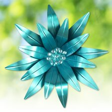 Metal Flower with Rhinestones Wall Décor