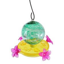Hummingbird Feeder with Pearlized Glass Ball