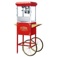 Roosevelt 8 Ounce Antique Popcorn Machine with Cart