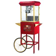 Princeton 8 Ounce Antique Popcorn Machine with Cart
