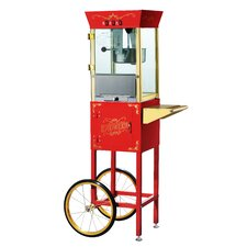 Matinee 8 Ounce Movie Antique Popcorn Machine with Cart