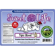 Sweet Life Premium Tiger Blood Snow Cone and Shaved Ice Syrup
