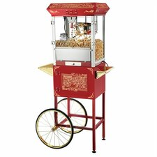 8 Oz. Popcorn Popper Machine with Cart