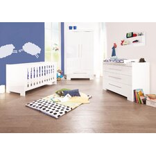 "3-tlg. Kinderzimmer Set ""Cloud"" in Weiß lackiert"