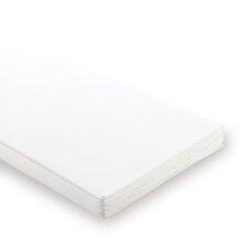 55cm Schaumkern-Matratze in Weiß für Wiegen und Anstellbettchen