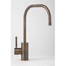 Fulton One Handle Single Hole Kitchen Faucet with Built-In Diverter and Lever Handle