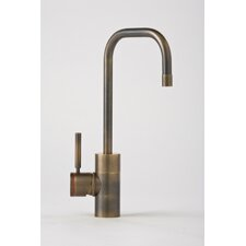Fulton One Handle Single Hole Bar Faucet with Built-In Diverter and Lever Handle
