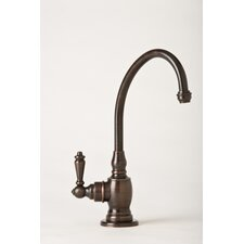 Hampton One Handle Single Hole Kitchen Faucet with Lever Handle
