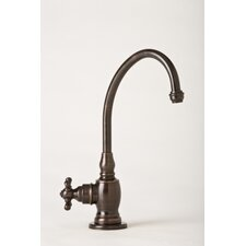 Hampton One Handle Single Hole Cold Water Dispenser Faucet with Cross Handle