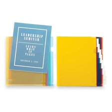 "Transparent File Holders, Water Resistant, 11""x8-1/2"", 5 per Pack"
