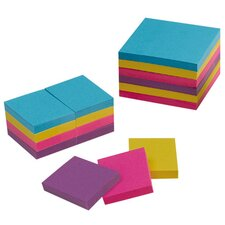 "Adhesive Notes, 1-1/2""x2"", 12/PK, Extreme Colors"