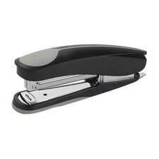 Full Strip Stapler, w/ Soft Handle/Base, 210 Cap, Black/Gray