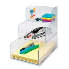 "Storage Oraginzer, 3 Compartment, 12""x9-3/8""x12"", Clear"