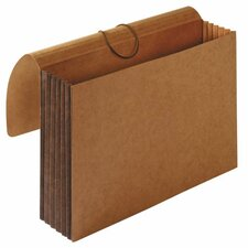 "Tyvek Accordion Wallets, Legal, 5-1/4"" Exp, 12-3/8""x10"", Brown"