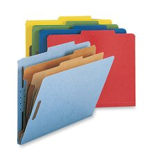 Classification Folders, w/ Fstnrs, 2 Dvdrs, Letter, 10 per Box