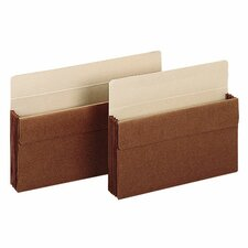 "Sparco Accordion Expanding File Pockets, Letter, 3.5"" Expansion, Red, 25 per Box"